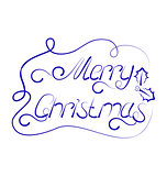 Cute Christmas lettering, handmade calligraphy