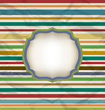 Retro stripe pattern, colorful vintage background