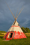 Colored wigwam