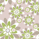 seamless wall-paper with flowers