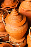 Thai style handmade clay pot.