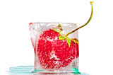 ripe strawberry frozen cocktail