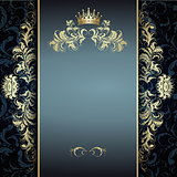 elegant golden pattern on blue