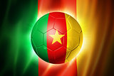 Soccer football ball with Cameroon flag