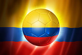Soccer football ball with Colombia flag