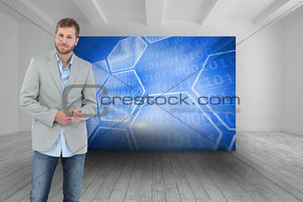 Composite image of suave man in a blazer