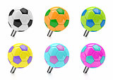 Soccer ball push pin