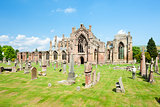 ruins of Melrose Abbey, Scottish Borders, Scotland