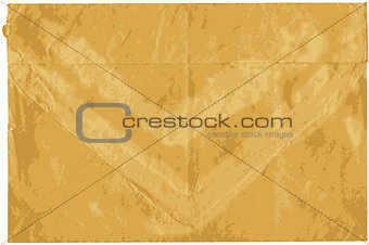 Old shabby sealed envelope