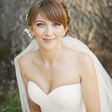 Smiling happy bride