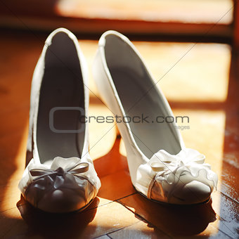 Bridal wedding day shoes