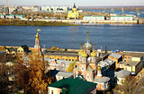 October autumn view of colorful Nizhny Novgorod Russia