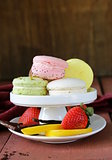 different colorful macaroons