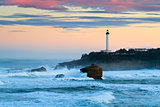 Biarritz Lighthouse in the Storm
