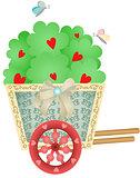 Cart Garden with Heart Tree