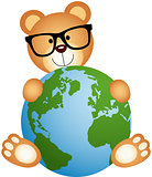 Teddy Bear with Globe