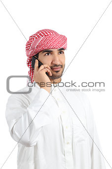 Arab man talking on the smart phone