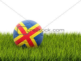 Football with flag of aland islands