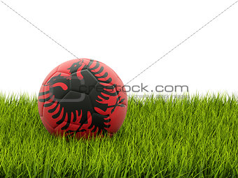 Football with flag of albania