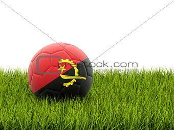 Football with flag of angola