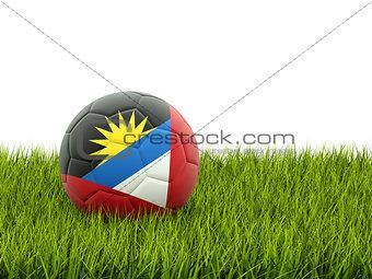 Football with flag of antigua and barbuda