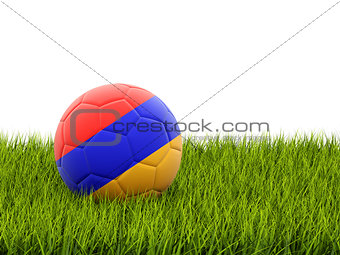 Football with flag of armenia