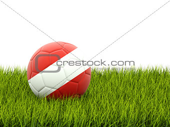 Football with flag of austria