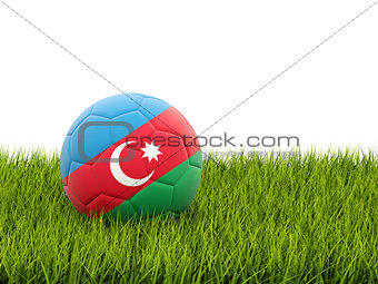 Football with flag of azerbaijan