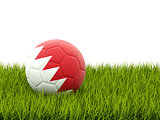 Football with flag of bahrain