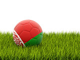 Football with flag of belarus