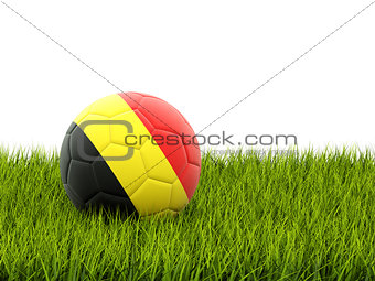 Football with flag of belgium