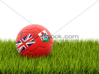 Football with flag of bermuda