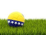 Football with flag of bosnia and herzegovina
