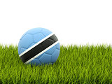 Football with flag of botswana