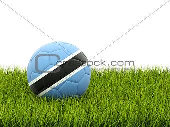Football with flag of botswana