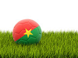 Football with flag of burkina faso