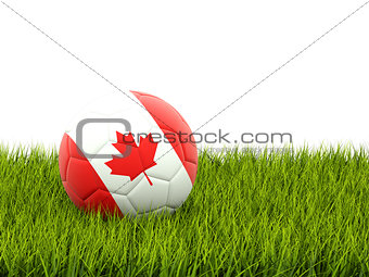 Football with flag of canada