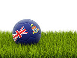 Football with flag of cayman islands
