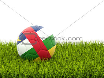 Football with flag of central african republic