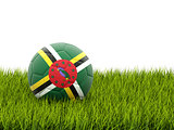 Football with flag of dominica