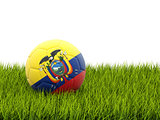 Football with flag of ecuador