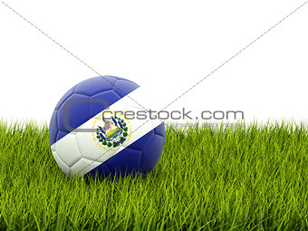 Football with flag of el salvador