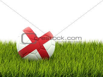 Football with flag of england
