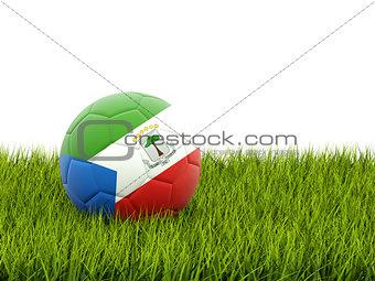 Football with flag of equatorial guinea