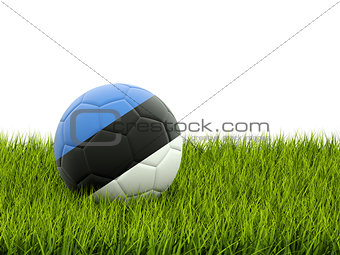 Football with flag of estonia