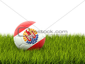 Football with flag of french polynesia