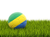 Football with flag of gabon
