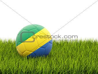 Football with flag of gabon