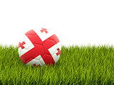 Football with flag of georgia