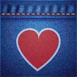 jeans background and heart